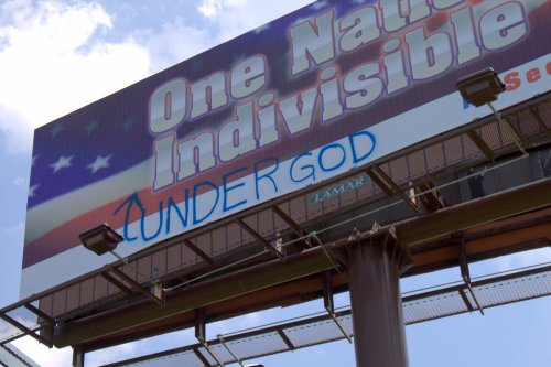 'One Nation Indivisible' Billboard Vandalized