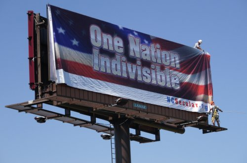 'One Nation Indivisible' Billboard